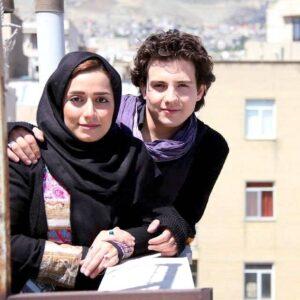 تیپ مشکی امیر کاظمی در کنار همسرش مهتاب محسنی