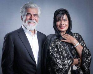 تیپ رسمی حسین پاکدل با کت شلوار و همسرش عاطفه رضوی