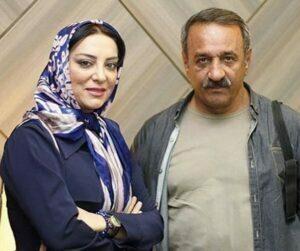 علي اوسيوند باپیراهن طوسی و همسرش حميرا رياضي