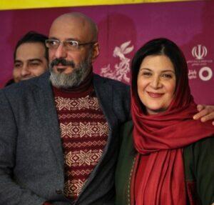 تیپ مشکی قرمز امیر جعفری و همسرش ریما رامین فر