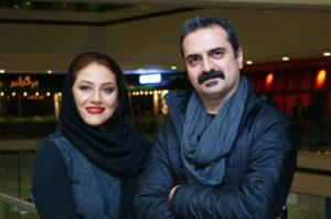 تیپ مشکی علیرضا آرا با کاپشن مشکی و همسرش