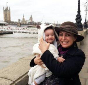 ماهچهره خلیلی و پسرش در لندن