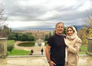 تیپ کرمی نیکی مظفری و پدرش در فلورانس ایتالیا