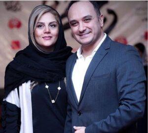 تیپ رسمی احسان کرمی با کت مشکی و پیراهن سفید و همسرش