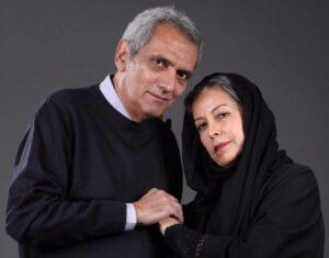 تیپ مشکی فرخ نعمتی در کنار همسرش