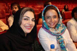 شبنم قلی خانی در کنار الیزابت امینی