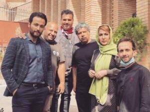 بازیگران در پشت صحنه سریال شرم