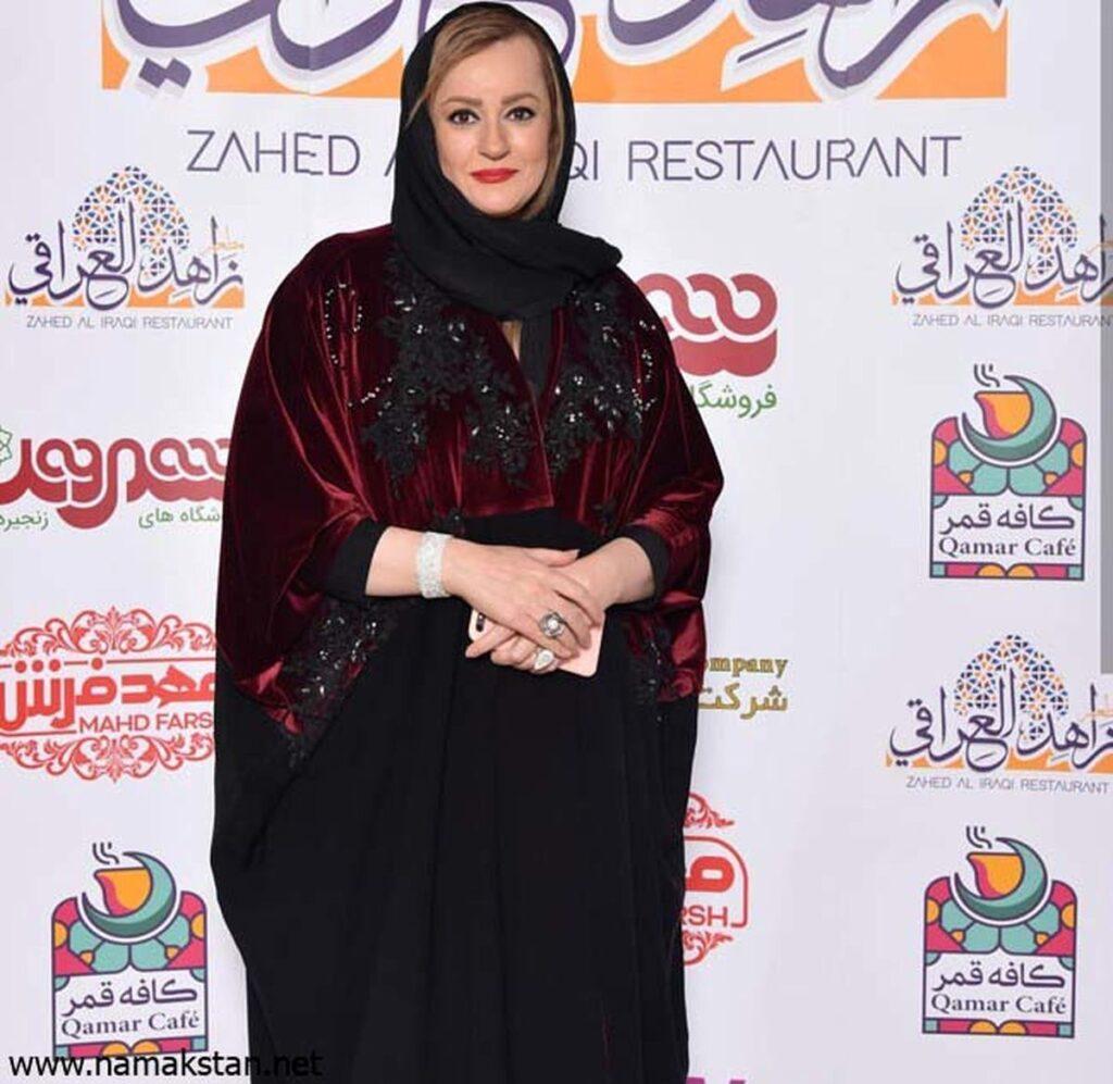 نعیمه نظام دوست با مانتو مجلسی - مدل مانتو بازیگران چاق ایرانی