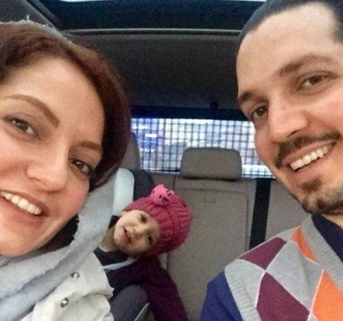 مهناز افشار در ماشین با همسر سابق و دخترش