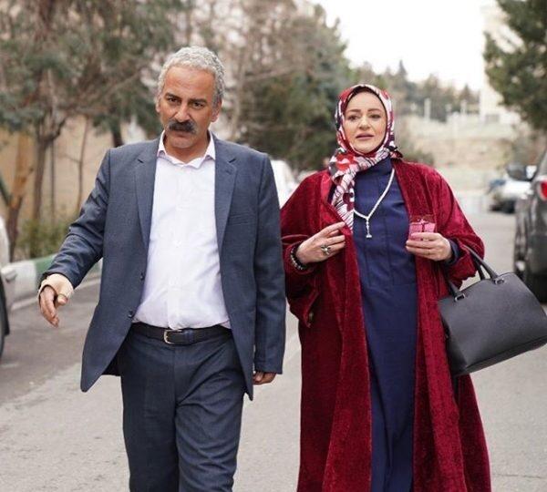 نعیمه نظام دوست و حمیدرضا آذرنگ در نون خ - مدل مانتو بازیگران چاق ایرانی