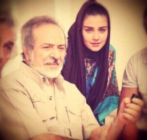 عکس یادگاری افسانه پاکرو و مرحوم ایرج قادری