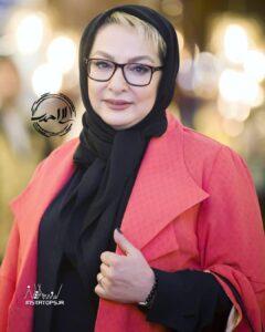 مانتو خوش رنگ لاله صبوری بازیگر 53 ساله