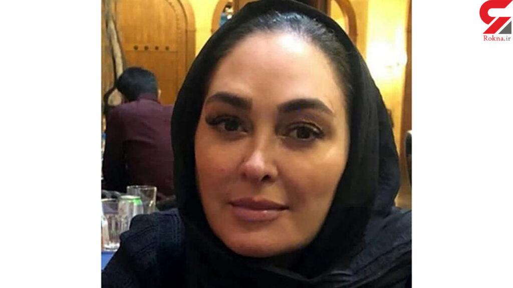 عکس های بدون آرایش الهام حمیدی با شال مشکی