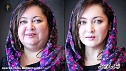 نیکی کریمی با شال گلدار - بازیگران ایرانی اگر چاق بودند