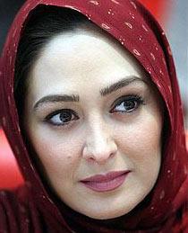 الهام حمیدی با شال قرمز - عکس های بدون آرایش الهام حمیدی