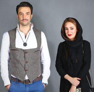 تیپ مشکی بهاره افشاری در کنار بنیامین بهادری
