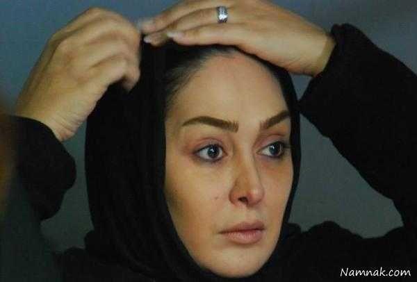 عکس های بدون آرایش الهام حمیدی و شال مشکی