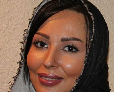 پرستو صالحی با شال و موی مشکی - عمل زیبایی پرستو صالحی