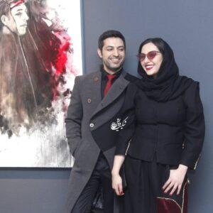 تیپ مشکی آناهیتا درگاهی در کنار همسرش اشکان خطیبی