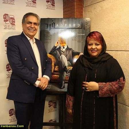 رابعه اسکویی با مانتو مشکی - مدل مانتو بازیگران چاق ایرانی