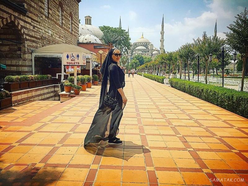 عکس بی حجاب سحرقریشی در ترکیه