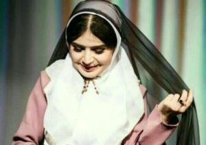 تینا عبدی با چادر در سریال آنام