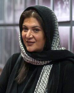 تیپ مشکی ریما رامین با روسری خال خالی