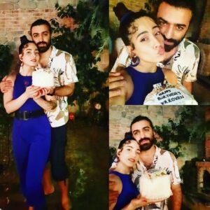 بهارک صالح نیا و همسرش