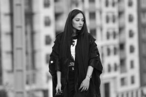 عکس سیاه و سفید آناهیتا درگاهی