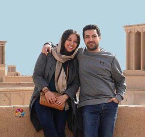 اناهیتا درگاهی در کنار همسرش اشکان خطیبی