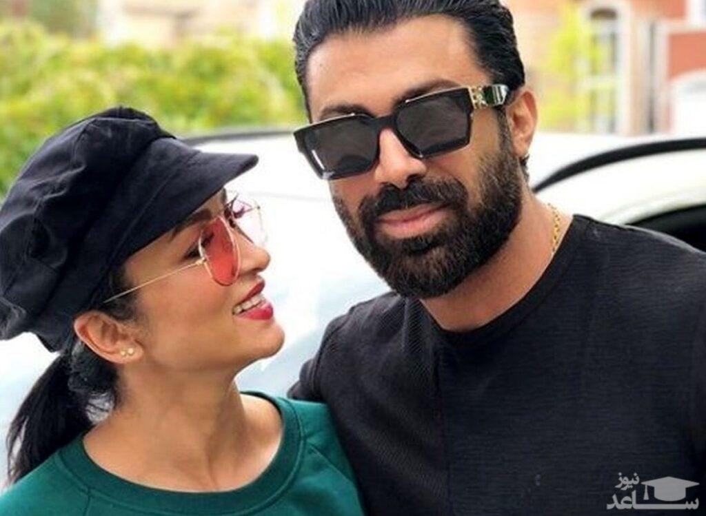 روناک یونسی با کلاه و همسرش محسن میری - عمل زیبایی روناک یونسی