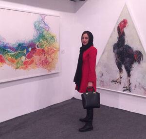 بهاره افشاری در نمایشگاه نقاشی