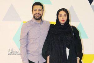 تیپ مشکی اناهیتا درگاهی در کنار همسرش اشکان خطیبی