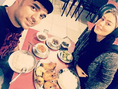 عکس های بدون آرایش سحر قریشی با مهدی طارمی در رستوران