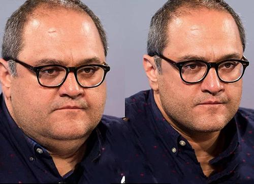 رامبد جوان با پیراهن سورمه ای و عینک - بازیگران ایرانی اگر چاق بودند