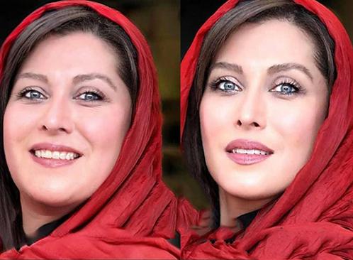 مهتاب کرامتی با شال قرمز - بازیگران ایرانی اگر چاق بودند
