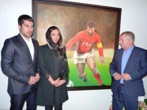 آناهیتا درگاهی در کنار محمد و علی پروین