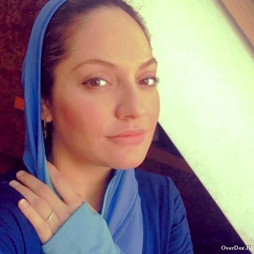 مهناز افشار با روسری آبی - عکس های بدون آرایش مهناز افشار
