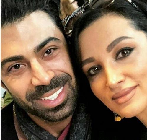 روناک یونسی بی حجاب با همسرش محسن میری