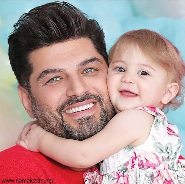 سام درخشانی و دخترش - رنگ چشمان سام درخشانی