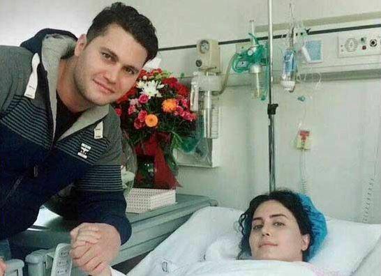 الناز شاکردوست و برادرش در بیمارستان - فیلم حادثه الناز شاکردوست