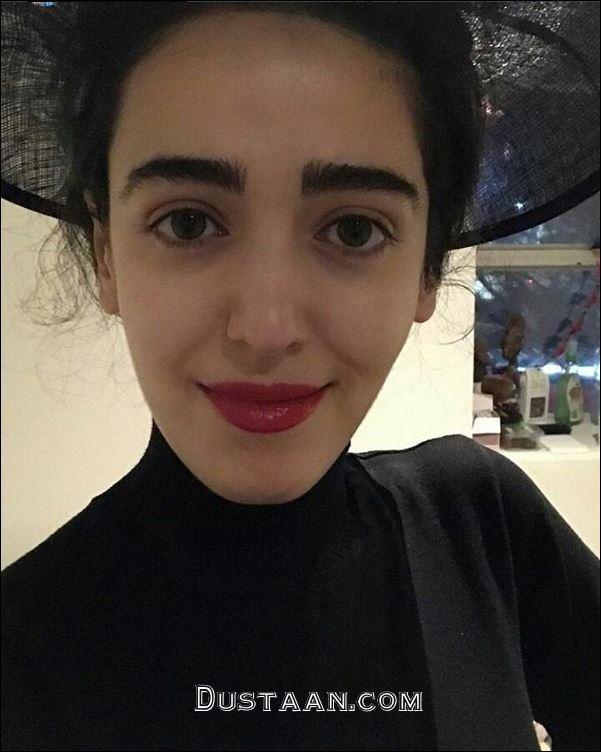فائزه علوی بی حجاب با لباس مشکی