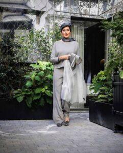 پوشش مهتاب کرامتی در شوی لباس جورجیو آرمانی
