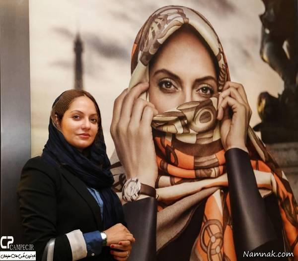 مهناز افشار مدل تبلیغاتی در کنار عکس تبلیغاتی