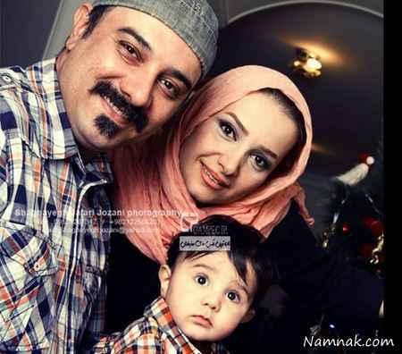 بروز ارجمند و همسر و پسرش