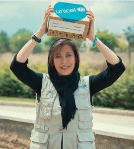 مهتاب کرامتی سفیر یونیسف در ایران