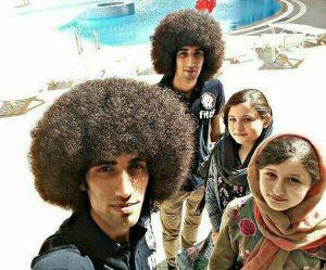 سلفی سارا و نیکا با رحمان و رحیم در پشت صحنه پایتخت