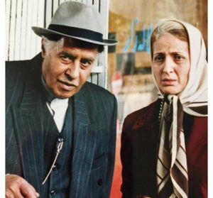 فاطمه گودرزی و خسرو شکیبایی در فیلم ازدواج صورتی