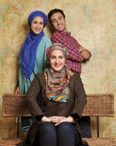 فاطمه گودرزی به همراه پسر و دخترش