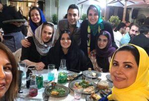 خانم های بازیگر در جشن تولد 55 سالگی فاطمه گودرزی